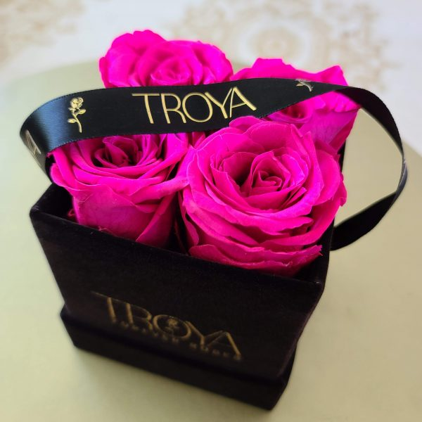 Pink Forever Roses in a Box