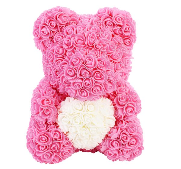 Pink Rose Bear with a heart