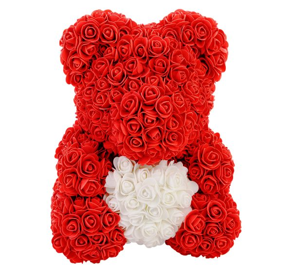 Red Rose Teddy bear with a heart