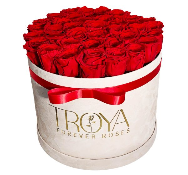 Big box of forever roses