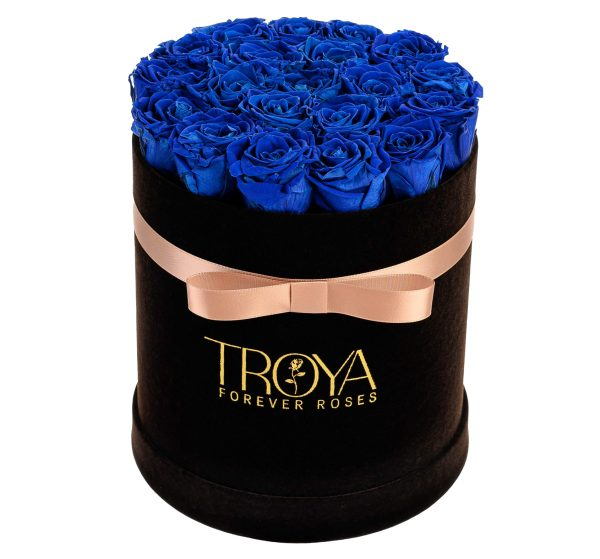 Blue Roses that last a year in a Black box