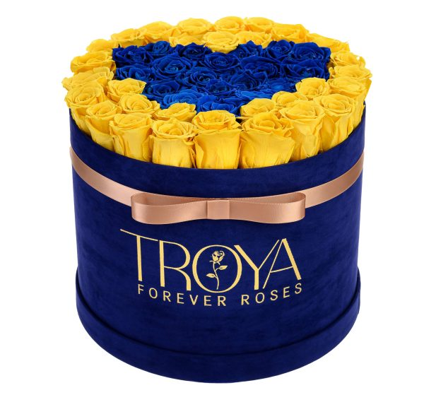 Forever Roses Blue and Yellow