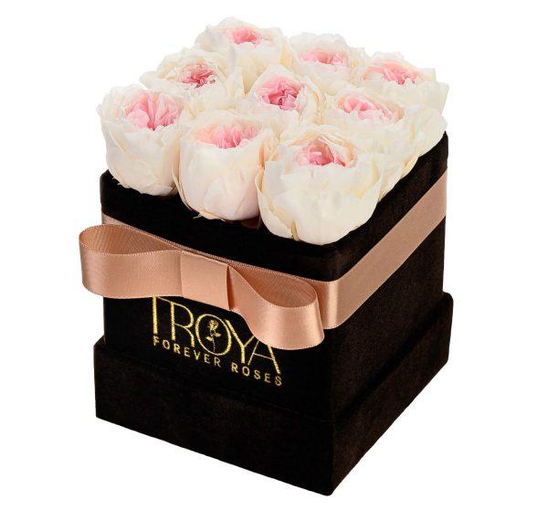 Square box forever flower White Pink