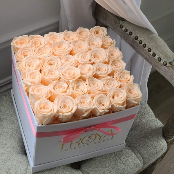 Large square with champagne roses