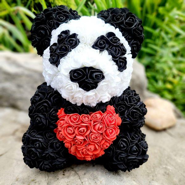 Panda rose bear with a heart