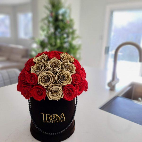 Gold forever roses heart - El-luna