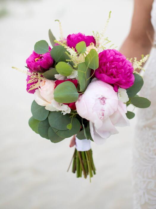 Bride peonies bouque